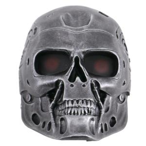 Mascara Funcional de Terminator, Réplica no Oficial de color plateado con detalles bien acabados, fabricada en polímero