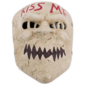 Mascara Funcional de La Purga, Réplica no Oficial de color blanco con detalles bien acabados, fabricada en polímero