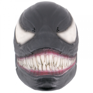 Mascara Funcional de Venom, Réplica no Oficial de color negro con detalles bien acabados, fabricada en polímero