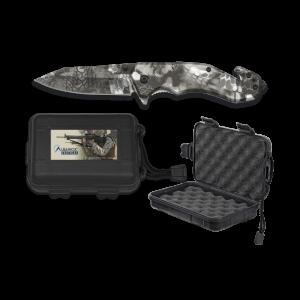 Navaja táctica Albainox Phyton, hoja de acero inox de 8,5 cm, mango ABS, incluye caja ABS