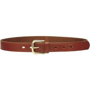 Cinturón de cuero con hebilla de latón macizo H 3 cm en color marrón Vega Holster 1C01