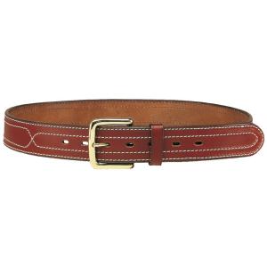 Cinturón de cuero engrasado con costuras laterales y hebilla de latón Vega Holster 1C10