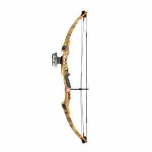 OUTLET Arco de caza poleas compuesto de 55 lbs y 207 FPS Hellbow con visor, color camuflaje ideal para cazar