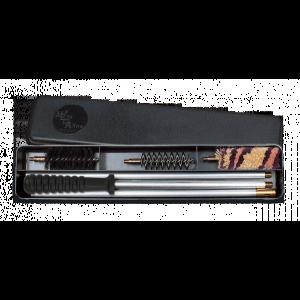 Estuche de limpieza Megaline para escopetas de calibre 12, 3 piezas con varilla de aluminio y mango de madera 23002