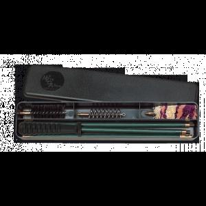 Estuche de limpieza Megaline para escopetas de calibre 12, kit 3 piezas con varilla en acero recubierta de plástico 23004
