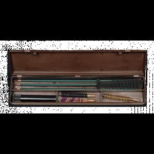 Estuche de limpieza Megaline para rifles del calibre 22, kit 3 piezas con varilla en acero recubierta de plástico 23005