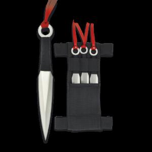 Set de 3 Lanzadores Martinez Albainox de un Solo Filo con Hoja de Acero Inox de 16 cm Incluye Funda de nylon 31801