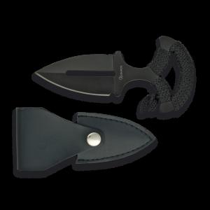 Cuchillo Deportivo Martinez Albainox con Mango de Nylon y Hoja de Acero Inox de 6.2 cm Incluye Funda polipiel 31880