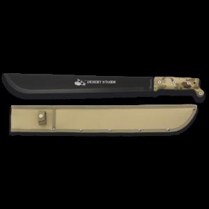 Machete de Desierto Desert Storm Ops Albainox con Hoja de Acero Inox de 41.7 cm y Mango de Abs Incluye Funda de piel 31966