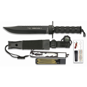 Cuchillo De Supervivencia Albainox Combat King I, Mango De Aluminio, Total 36 Cm, Incluye Kit De Supervivencia, 32101