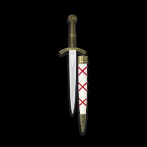 Daga Templarios con Hoja de acero inox de 24 Cm incluye vaina