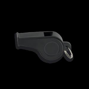 Silbato Plástico Martinez Albainox de Pvc en Color Negro de 4 cm Incluye Anilla 33032