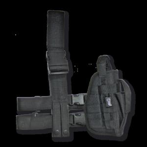 Funda de Pistola Pernera Dingo Táctica de Nylon Acolchado de Color Negro Para Diestros y Zurdos con Sistema Molle, en blíster  34228-ne