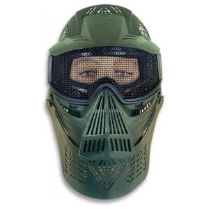Mascara Martinez Albainox PVC Verde Ornamental con goma de ajuste elástico Cubre el cuello 34236