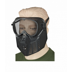 Mascara Martinez Albainox PVC Negro para uso Ornamental con Goma de Ajuste Elástico, en blister de presentación 34238
