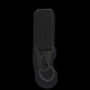 Llavero Mosquetón Barbaric Negro de nylon y ABS de 11 x 2.5 cm