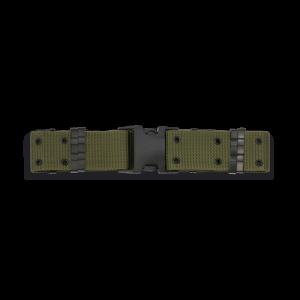 Cinturón de Nylon Rígido Color Verde Tamaño 122x5.5 cm y Hebilla de PVC