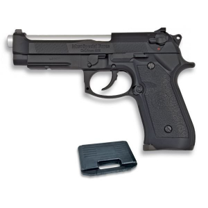 Pistola de Gas Blow Back Airsoft HFC con Cuerpo Pvc Calibre 6 mm Color Negro, energía 1,21 Julios, Incluye Maletín 35002