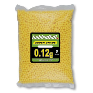 Bolsa con Bolitas de PVC para armas airsoft Golden Ball 6 mm 0.12 gr con 5000 bolas 35099