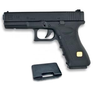 Pistola de Gas Blow Back Airsoft HFC, con Cuerpo de Metal Incluye Maletín, energía 0,74 Julios 35149