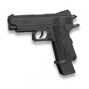 Pistola Airsoft de aire suave Cyma, sistema de muelle, tamaño 20,5 x 17,5 cm, energía 0,10 Julios, no contiene laser, munición bolas de PVC de 6 mm, 38234