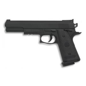 Pistola de aire suave Albainox, cuerpo PVC, accionamiento de muelle, energía 0,12 Julios, velocidad disparo 44 m/s - 145 fps, Airsoft, 38285