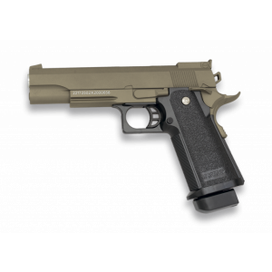Pistola de Airsoft Golden Eagle / 3002t Color Tan de muelle bolas de 6 mm 252 Fps 77m/s, energía 0,36 Julios, Corredera Metálica.