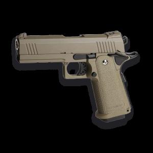 Pistola de Airsoft de GAS Golden Eagle 3306 Color TAN - Full Metal Blowback 300 fps 91 ms Bolas 6mm, energía 0,83 Julios,  Peso 918 gramos.