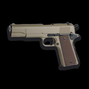 Pistola de Airsoft de GAS Golden Eagle 3306 Color TAN - Full Metal Blowback 290 fps 88 ms Bolas 6mm, energía 0,78 Julios.  Peso 866 gramos