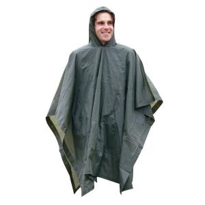 Poncho de Vinilo verde Olivo a prueba de lluvia Parabellum 50000