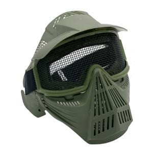 Máscara para airsoft con rejilla de color verde Amont 6054V