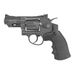 Revólver Gamo  PR-725 CO2, calibre 4,5 mm, 100 m/s, energía 3 Julios, con miras regulables en deriva y altura, 6111399
