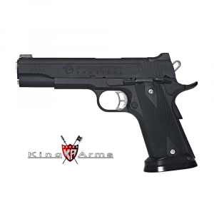 Pistola Airsoft GAS C02 6mm 285 fps Blowback KING ARMS Predator Iron Shrike Negro -  6 Mm GBB