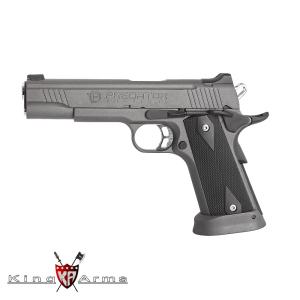 Pistola Airsoft GAS C02 6mm 285 fps Blowback KING ARMS Predator Iron Shrike Color Gris Urban - 6 Mm GBB