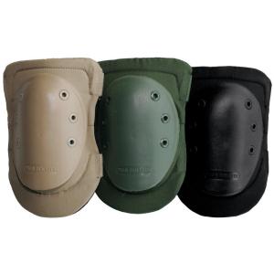 Rodilleras acolchadas con parachoque de goma dura de color verde o negro Vega Hoslter OE30