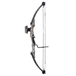 Arco de poleas compuesto de 55 lbs y 207 FPS Hellbow con visor, color camuflaje ideal para cazar