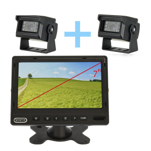 Kit de cámara de aparcamiento monitor AHD de 7