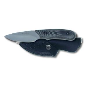 Cuchillo de caza Muela Ibex IBEX-8M, cachas micarta negra, enterizo, hoja de 7,5 cm, peso 135 gramos + tarjeta multiusos de regalo
