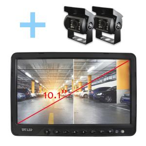 Sistema de cámaras para aparcamiento de vehículos pesados con pantalla de 10,1 pulgadas y visión nocturna