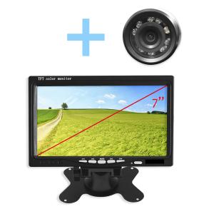 Kit de aparcamiento con cámara visión nocturna y Monitor 7 pulgadas para vehículos, dos colores a elegir