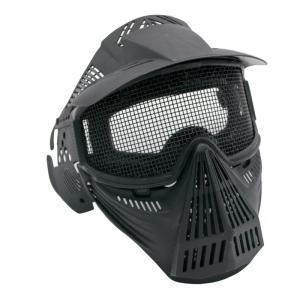 Máscara para airsoft con rejilla de color negro Amont 6054N
