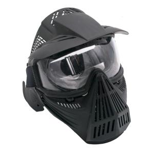 Máscara para airsoft de color negro con gafas Amont 604N