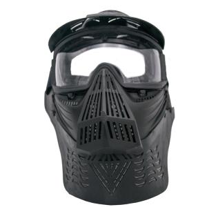 Máscara para airsoft de color negro con gafas Amont 603N