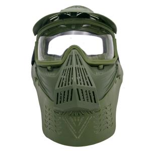 Máscara para airsoft de color verde con gafas Amont 603V
