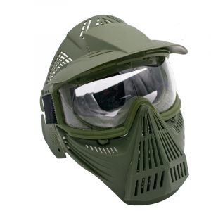 Máscara para airsoft de color verde con gafas Amont 604V