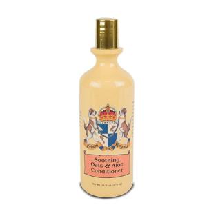 Acondicionador Oats&Aloe Crown Royale para perros y gatos, calma y restaura piel seca y dañada, envase de 473 ml