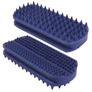 Cepillo de goma especial para Caras y Rabos, para perros de pelo corto, tamaño 12 x 5 cm