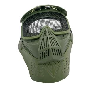 Máscara para airsoft de color verde con rejilla Amont 6053V