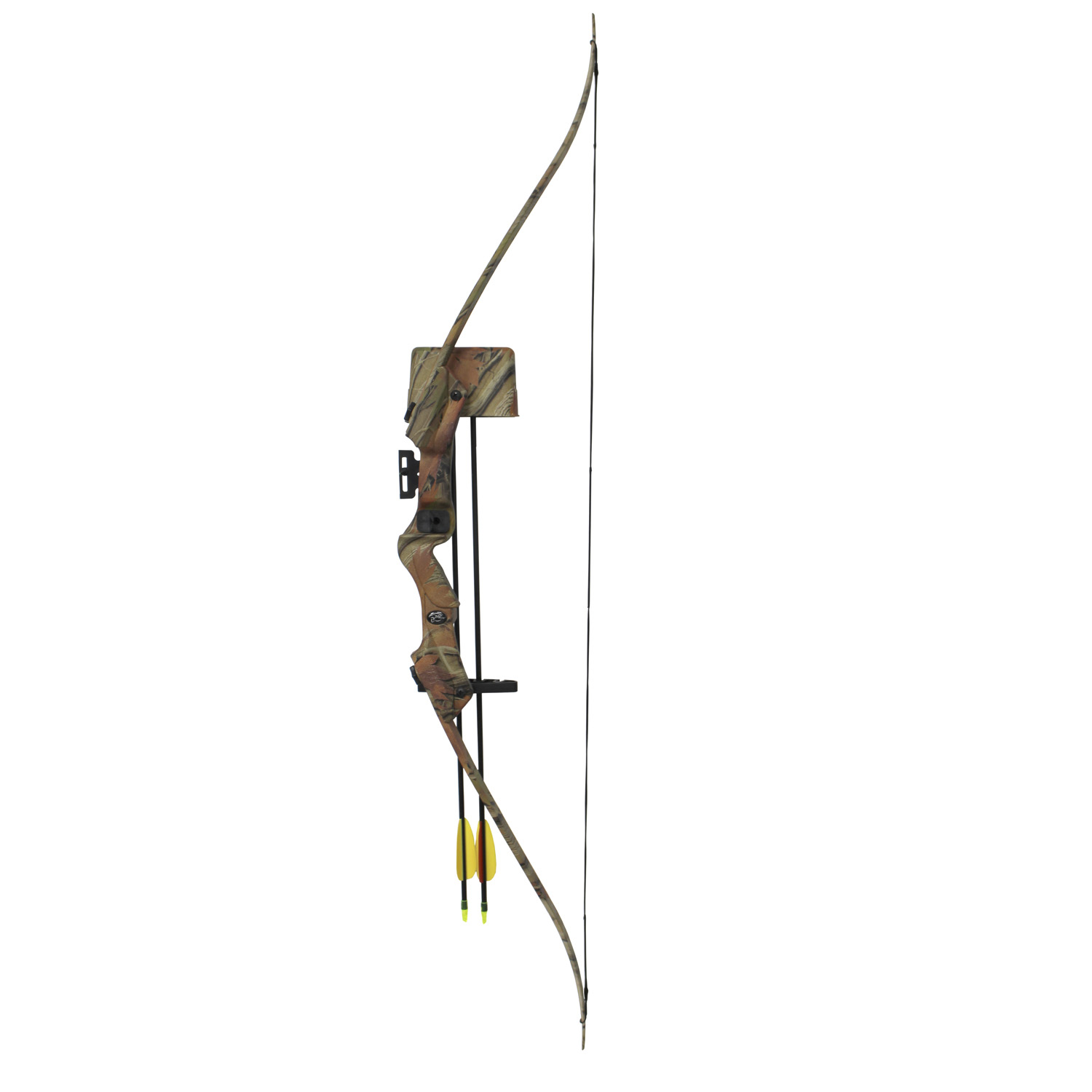 black color Hellbow Set Recurve Bow 20 lbs and 85 FPS for right-handed an ideal set for the young archer